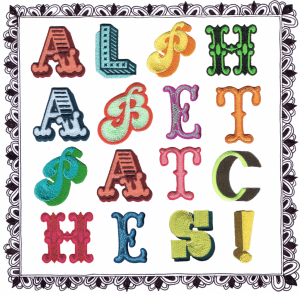 ALPHABET PATCHES FRAME