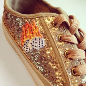 FlamingDiceOnShoe