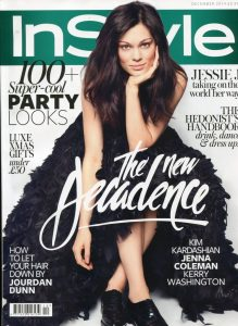 Jennie Maizels iron on patches - InStyle cover - December 2014