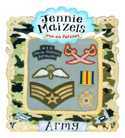 Army set of 5 Iron-on Patches