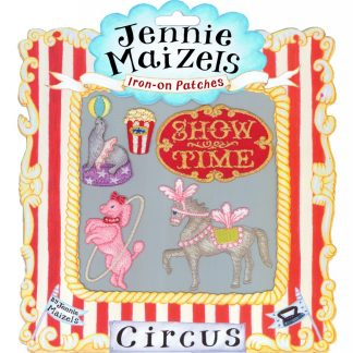 Circus set of 5 Iron-on Patches