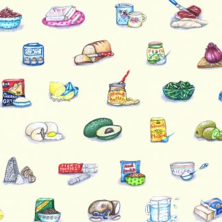 Ingredients Wrapping Paper