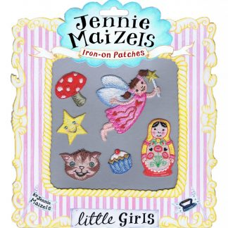 Little Girls set of 6 Iron-on Patches
