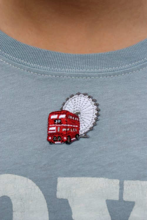 London set of 5 Iron-on Patches