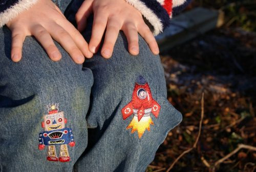 Little Boys set of 6 Iron-on Patches