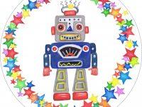 Robot Circular Card