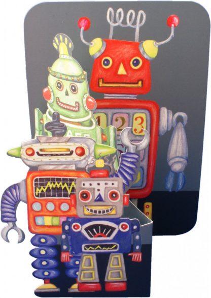Robot Pop-up Card