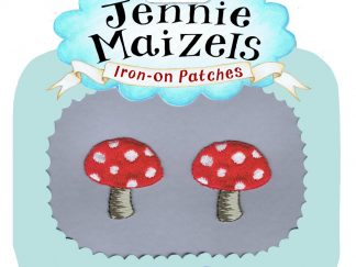 Toadstool pair of Iron-on Patches