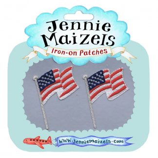 US Flag pair of Iron-on Patches