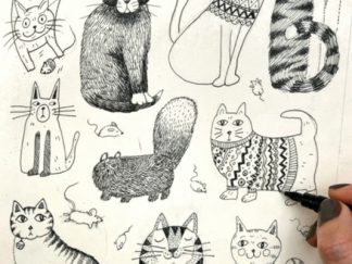 #DrawACatForEllen for Cancer Research